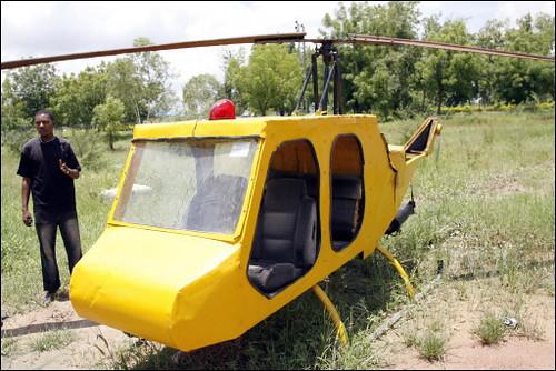 Helicóptero casero nigeriano