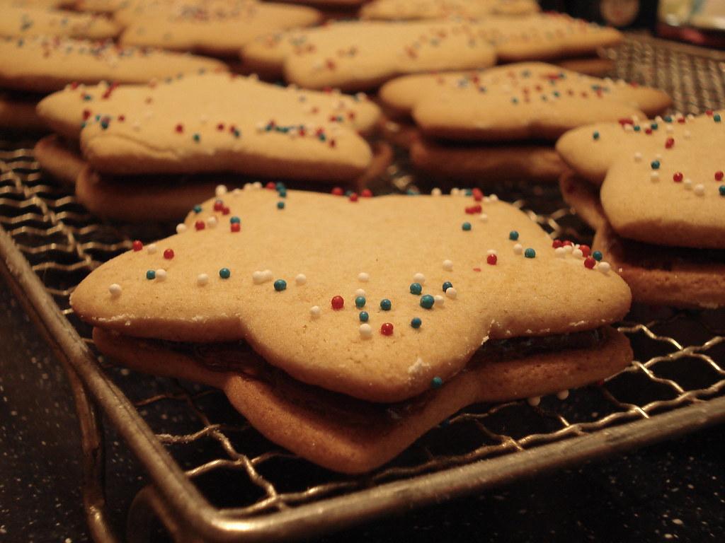 Star cookie sandwiches