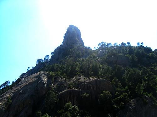 Punta Malanda depuis le col aux laricii