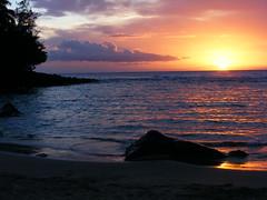Ke-e Kauai Sunset (wunztwice) Tags: ocean sunset beach hawaii pacific kauai kee keebeach scenicsnotjustlandscapes