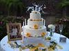 yellow wedding cake photo