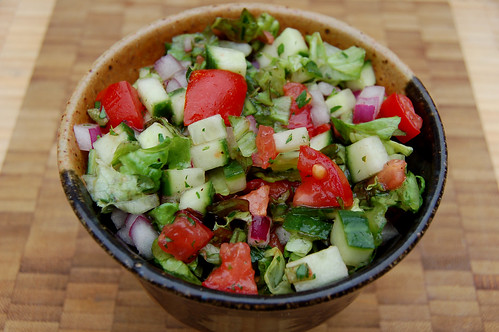 Chopped summer salad copyright Eve Fox 2008