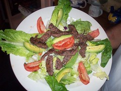 Merlot Petite Steak Salad (pgfgrapeseed) Tags: family original restaurant salad healthy steak dining casual presentation merlot prosser sirloin glutenfree bluegoose grapeseed