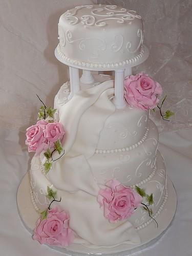4 Stockige Hochzeitstorte Arabesken Rosa Rosen A Photo On Flickriver