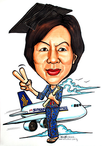 Caricature+airplane