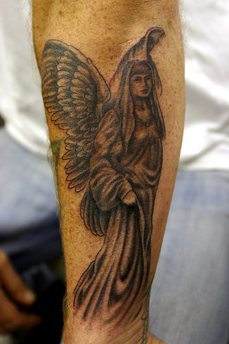 Here are some angel tattoo pictures. An angel is a spiritual supernatural