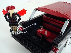 Lego Sue And Her '57 Pontiac Safari! (Lino M) Tags: seattle black car station dark wagon spider lego goth 1957 blackwidow custom martins lino lugnuts legosue buildchallenge sympathyfortheunderdog 57pontiacsafari