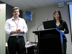 Adrian and Ruth presenting at the conference