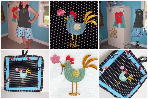 Polka Dot Spring Chicken Set