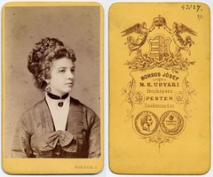 Hungarian Beauty (josefnovak33) Tags: old beauty vintage de photograph cdv visite carte hungarian pesten