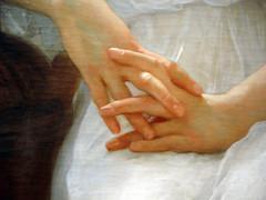 Bouguereau - Detail of Hands (pjink11) Tags: art cantor artwork hands sony cybershot stanford 2008 bouguereau artexhibition dscw1 artisticperspectives