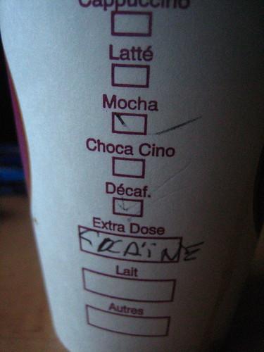 café bien dosé