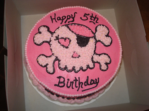 Pink Skull Birthday Party Cake Ideas For Teenage Girls