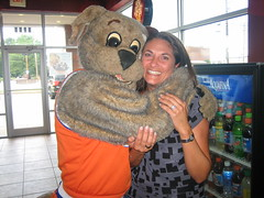 She gave me her number. (Moondog Mascot) Tags: coldstone 09072008
