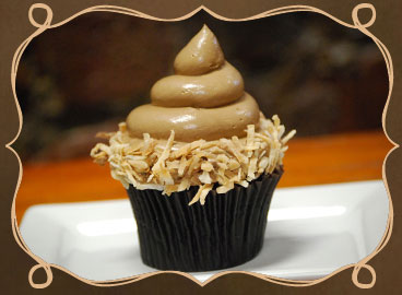 German chocolate cupcake from Curious Gourmet Cupcakes