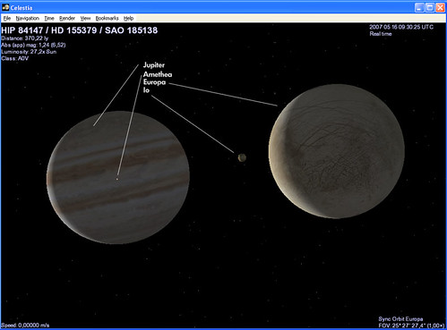 Celestia - Jupiter, Europa, Io, Amathea.