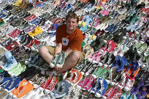 Joshua Mueller of Lakewood, Washington - started his collection in 1991 and now has near 1,000 pairs