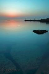 Still Early (alkhaledi) Tags: morning friends light sunset sea sky lake green love beach water speed canon reflections way landscape early photo still long uv dream calm shutter kuwait reflexions drown q8 sharpness orginal 1635mm lovlely damniwishidtakenthat
