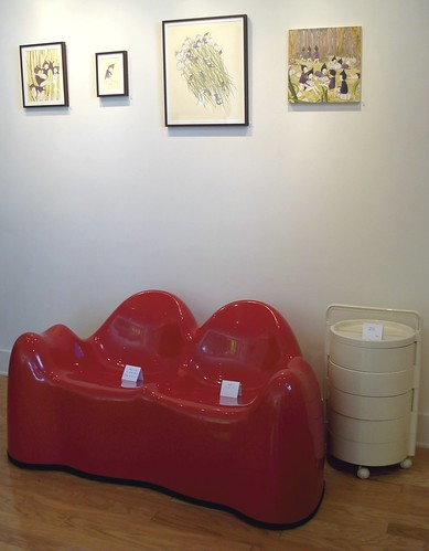 art of jennifer tong and vary rare molar sofa by wendell castle + kartell barcart