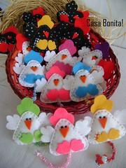 Mbiles (Casa Bonita Artesanato!) Tags: felt feltro galinhas mbiles