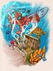 Cursed Gold (ilustracionamentador) Tags: art luz water tattoo ink wonderful gold design boat mar colorful arte graphic turtle victor efeito imagination draw creature tatu bau desenho tinta pintura tato oceano grafico cursed tatuagem colorido mergulhador imaginação gradiente escafandro victorjam