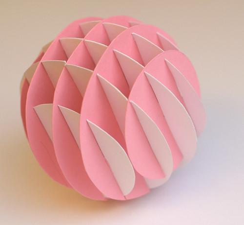 Как сделать шар из бумаги в картинках 135