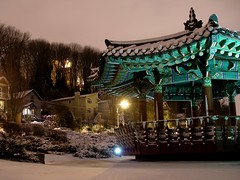 Taejon/Daejeon Park in the snow last December. Photo by Matthew Rutledge in the Beacon Hill Blog photo pool on Flickr.