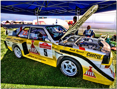 Audi Sport Quattro Group B Rally Car.Silverstone Classic 2008 (Antsphoto) Tags: car sport race 5 rally turbo castrol audi michelin hdr mouton bosch racer motorsport topaz turbocharged quattro rallycar groupb motoracing audisport michelintires rohrl topazadjust audiaudi caraudi 5racecar boschfuelinjection 5racer 5rallycar 5rallymachine beastquattroaudi quattroyellow audiwhite machineaudi