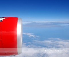 Flying in the Sunny Weather (Sayid Budhi) Tags: blue holiday flight bluesky aeroplane enjoy airbus jetengine gettyimages sunnyday a320 airasia redengine sunnyweather clearweather penerbangan enjoyyourflight pesawatterbang medantokualalumpur crossingthemalaccastrait mesinjet