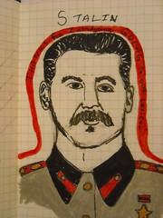 Stalin (Chu Feng) Tags: moleskine portraits joseph folkart paintings drawings stalin gulag cultofpersonality evilegos