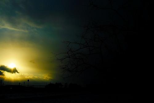 富山の夕日