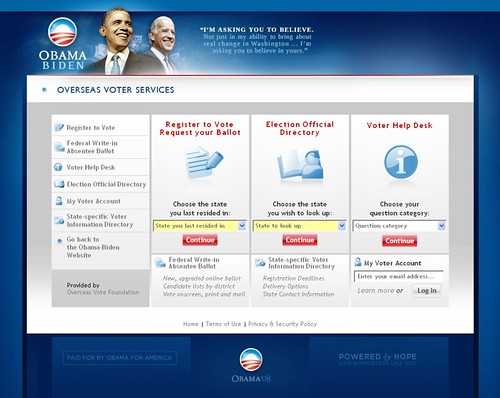 Barack Obama - Overseas Voter Services - 12/29/08