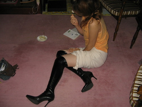 Skin tight thigh high boots - a photo on Flickriver