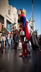 Super-woman at Hollywood