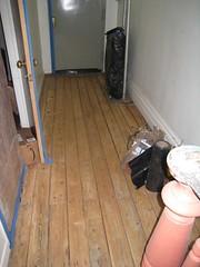 Hallway sanded