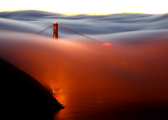Flood (Rob Kroenert) Tags: sanfrancisco california bridge usa fog sunrise dawn golden bay gate san francisco long exposure marin goldengatebridge headlands