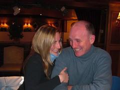 Giggles in Fat Mardi (Neubie) Tags: vacation snow canada ski restaurant couple quebec natalie baldmen neubie mounttremblant interwest newyears2009 fatmardi fatmardirestaurant