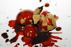 The life and his bloody track (vol.2) (Martin.Matyas) Tags: canon canonef50mmf18 eggs bloody tod eier thedarkside eos400d thelifeandhisbloodytrack