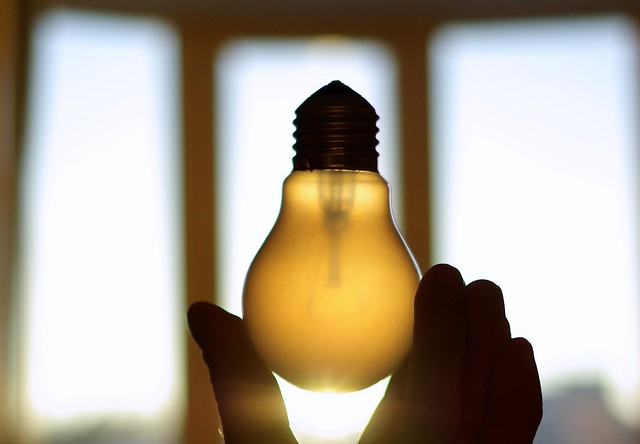 A light bulb used to illustrate a bright idea for innovation