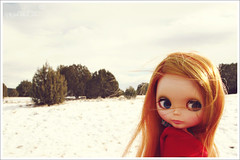 s n o w (r e n a t a) Tags: trip original arizona sky usa white holiday snow cold branco america canon vintage landscape doll unitedstates desert lasvegas grandcanyon nevada cu redhead plastic neve viagem northamerica kenner blythe  boneca 1972 frio estadosunidos plstico travellingkenner