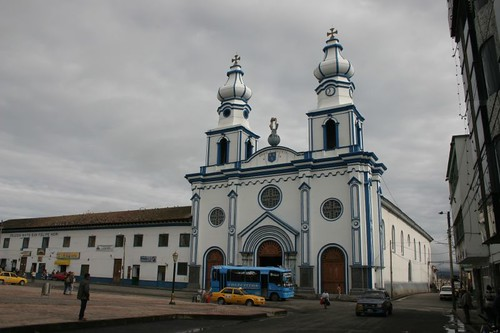 Main square in Ipiales, Colombia.