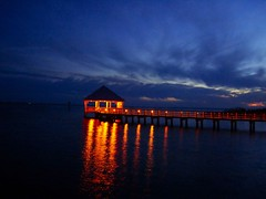 The End of The Day at The End of The Pier (Pauls Travel Photos) Tags: park sunset pier battery apalachicola platinumphoto