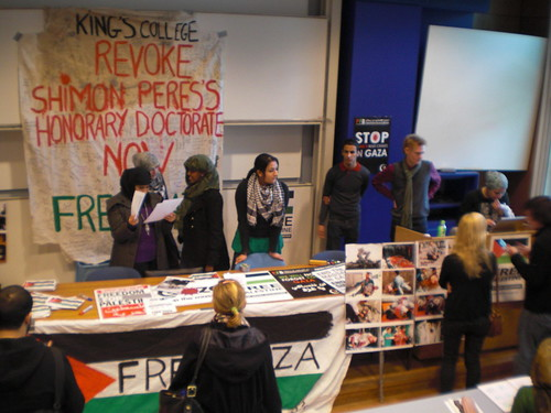 kings uni occupation in solidarity with the people of Gaza