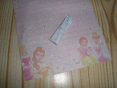 H gave me a princess paper and a chewing gum