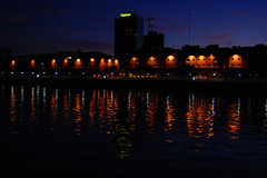 Puerto (Ing Camb) Tags: light sky southamerica water argentina night reflections puerto boat agua buenosaires nikon barco harbour nocturna madero dique reflejos d40 50club