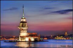 Lover Towers of İstanbul (Yavuz Alper) Tags: tower night turkey nikon türkiye istanbul türkei hdr marmara galata uskudar turchia maidenstower bosporus kizkulesi d90 salacak leanderstower