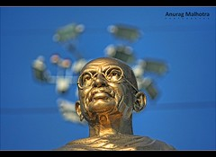 Mahatma Gandhi - Statue of NON VIOLENCE (Anurag Malhotra) Tags: life morning light sun india cute art nature colors beautiful beauty canon 350d photo shimla amazing flickr dof zoom bokeh good delhi father great nation award ridge gandhi murder pro awards 1855 chandigarh ashram lense mahatma nonviolence gujrat lawer cfc bapu exceptional untouchables sabarmati assination hydrabad britishers telelence satyagrah 55250 recial quitindia noncopration