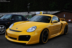 Porsche Cayman Techart GT Widebody. (Melvin Scholten) Tags: black cars car yellow photography nikon parking automotive spot days professional exotic porsche cayman tuner gt melvin rims tuning spa rare supercar impressive scholten 987 widebody francorchamps techart 2011 d5000 worldcars