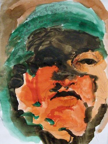 retrato con pañuelo verde by cardesin