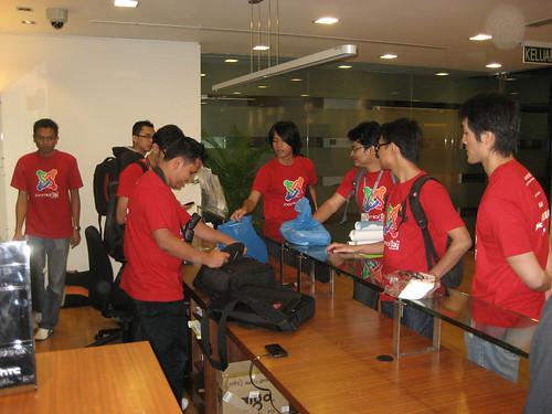 The hardworking organizing crew at Joomla!Day Malaysia 2011